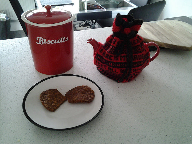 Cosied tea and biscuits