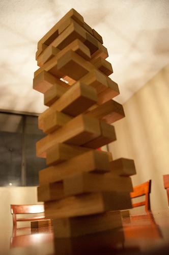 tour of wooden blocks